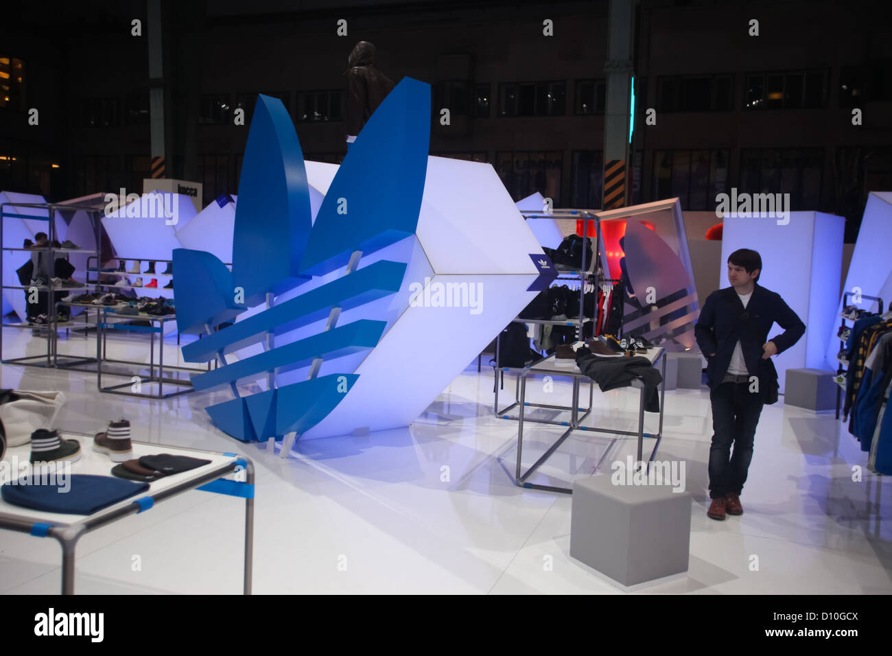 Elasticidad collar Faceta  BERLIN - JANUARY 21: Adidas stand at Bread & Butter fair on January Stock  Photo - Alamy