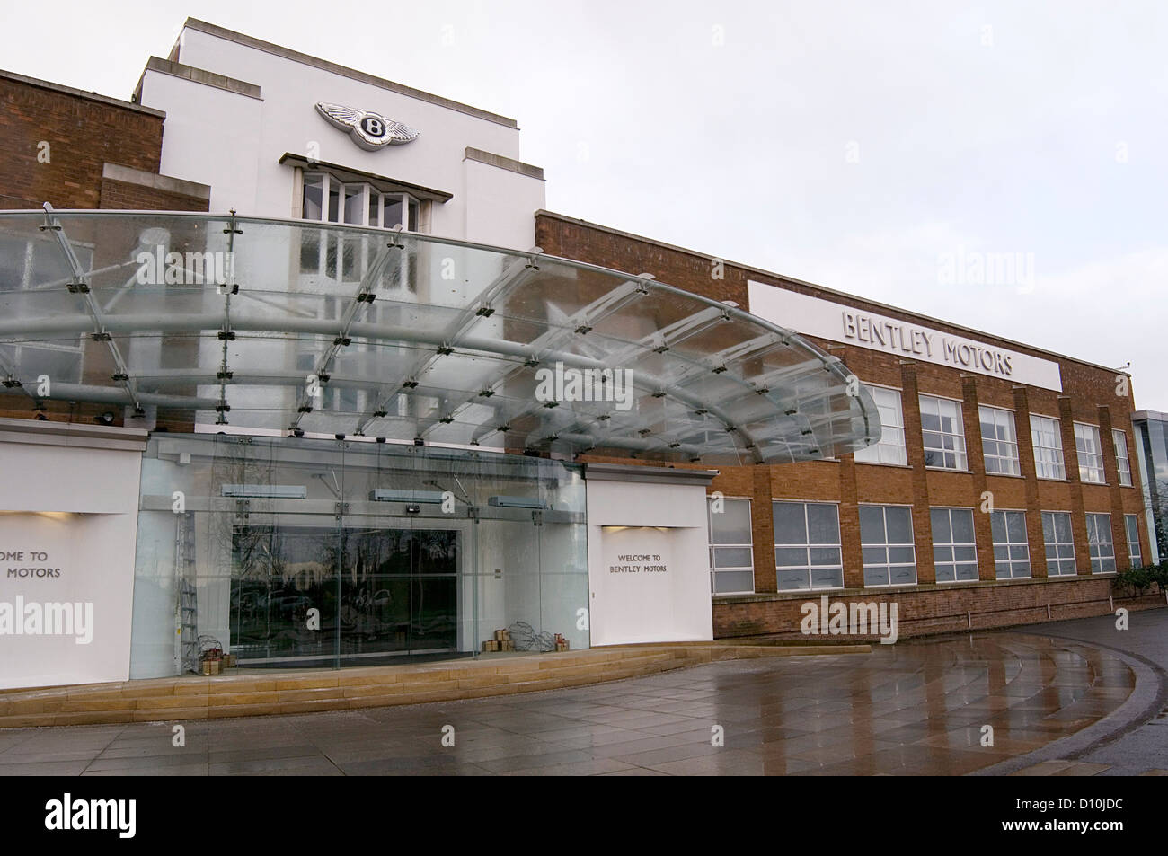 bentley car cars motors factory in crewe uk - Stock Image