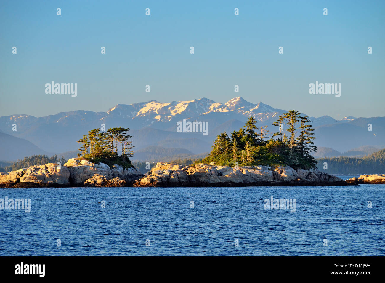 Inside Passage islands,  Blackfish Sound, British Columbia BC, Canada - Stock Image