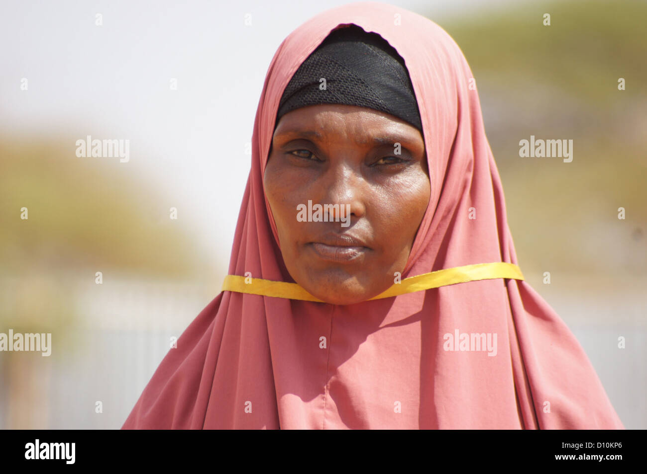 30-year old Diarra Abdullahi from Somalia pictured in the refugee camp of Buramino, which is part of the wider refugee - Stock Image