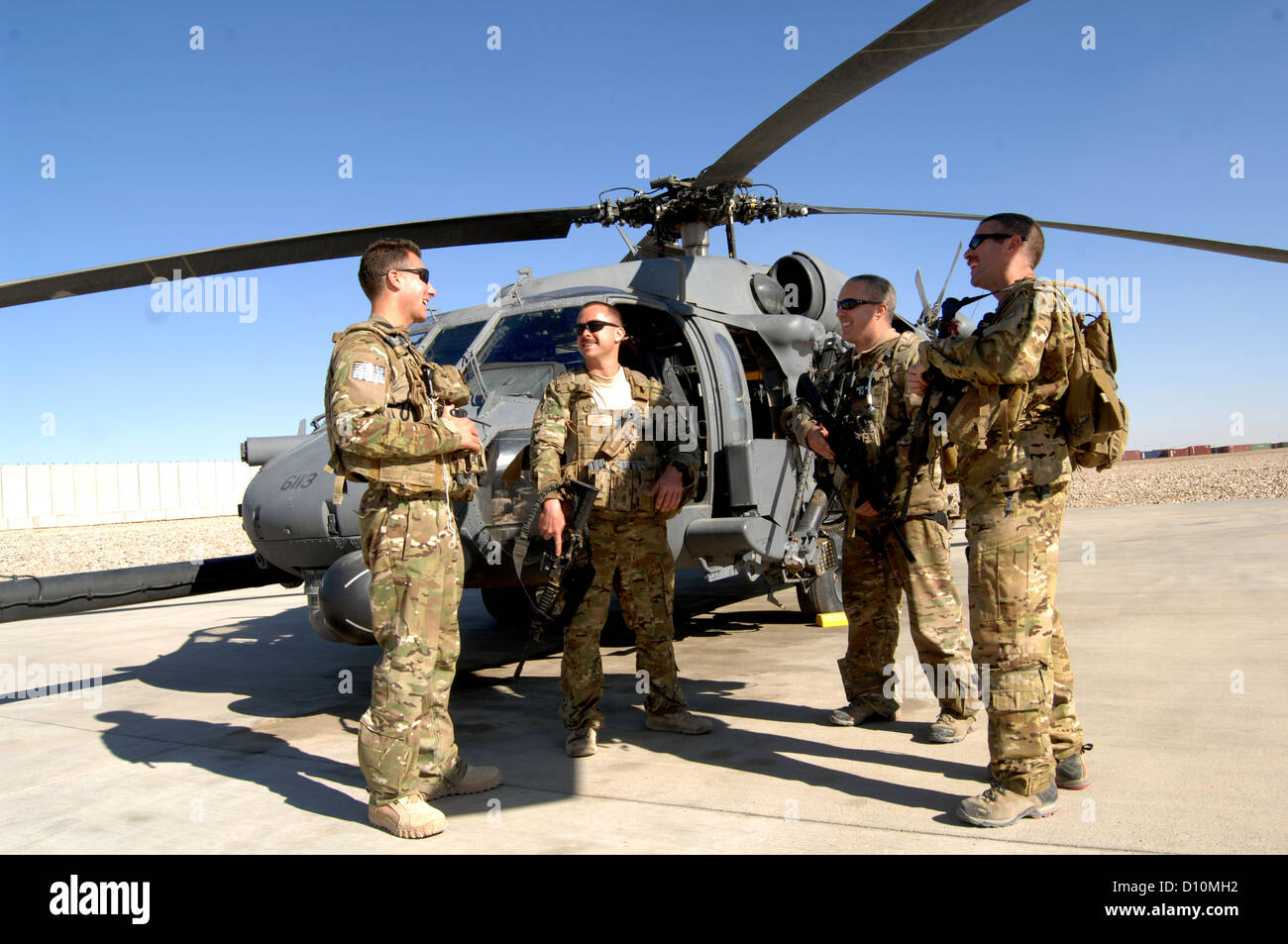 (From left) Capt. Shaun Cullen, Capt. Tripp Zanetis, Tech. Sgt. Jim Denniston and Tech. Sgt. Erick Pound are all - Stock Image