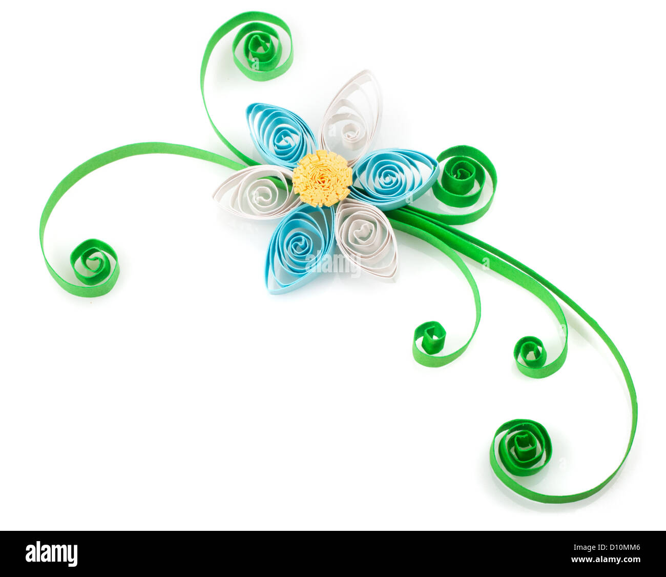 Quilling made of strips of paper flower on a white background stock made of strips of paper flower on a white background mightylinksfo