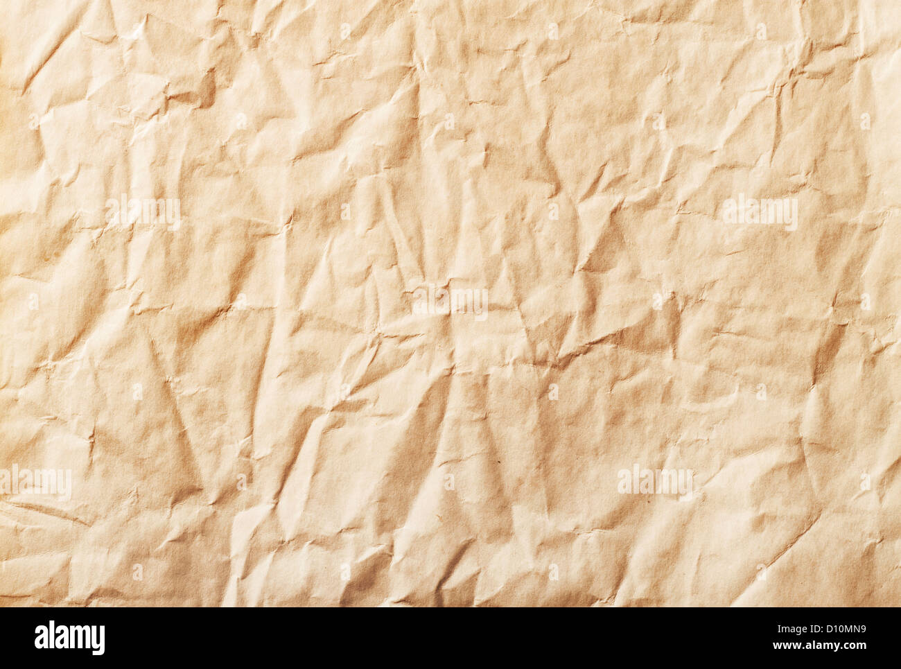 Paper texture - brown paper sheet - Stock Image