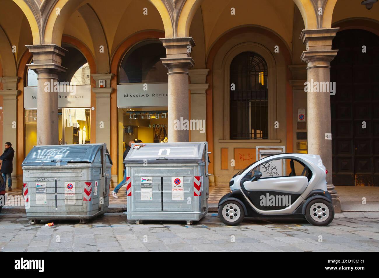 Renault Twizy electric car Bologna city Emilia-Romagna region northern Italy Europe Stock Photo