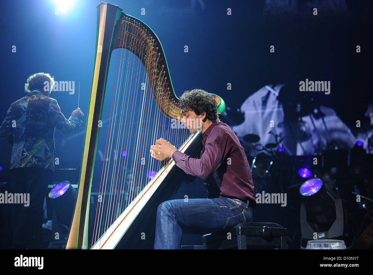 Dutch Musician Remy Van Kesteren Performs On Stage With His