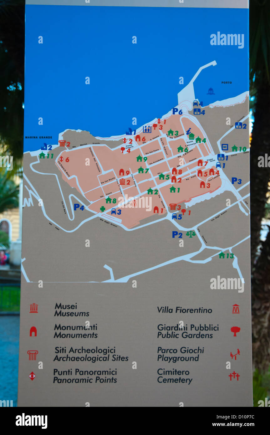 Map Of Sorrento For Tourists In Old Town Sorrento Resort