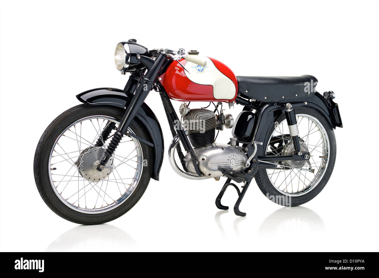 1956 MV Agusta 125 TRA motorcycle - Stock Image