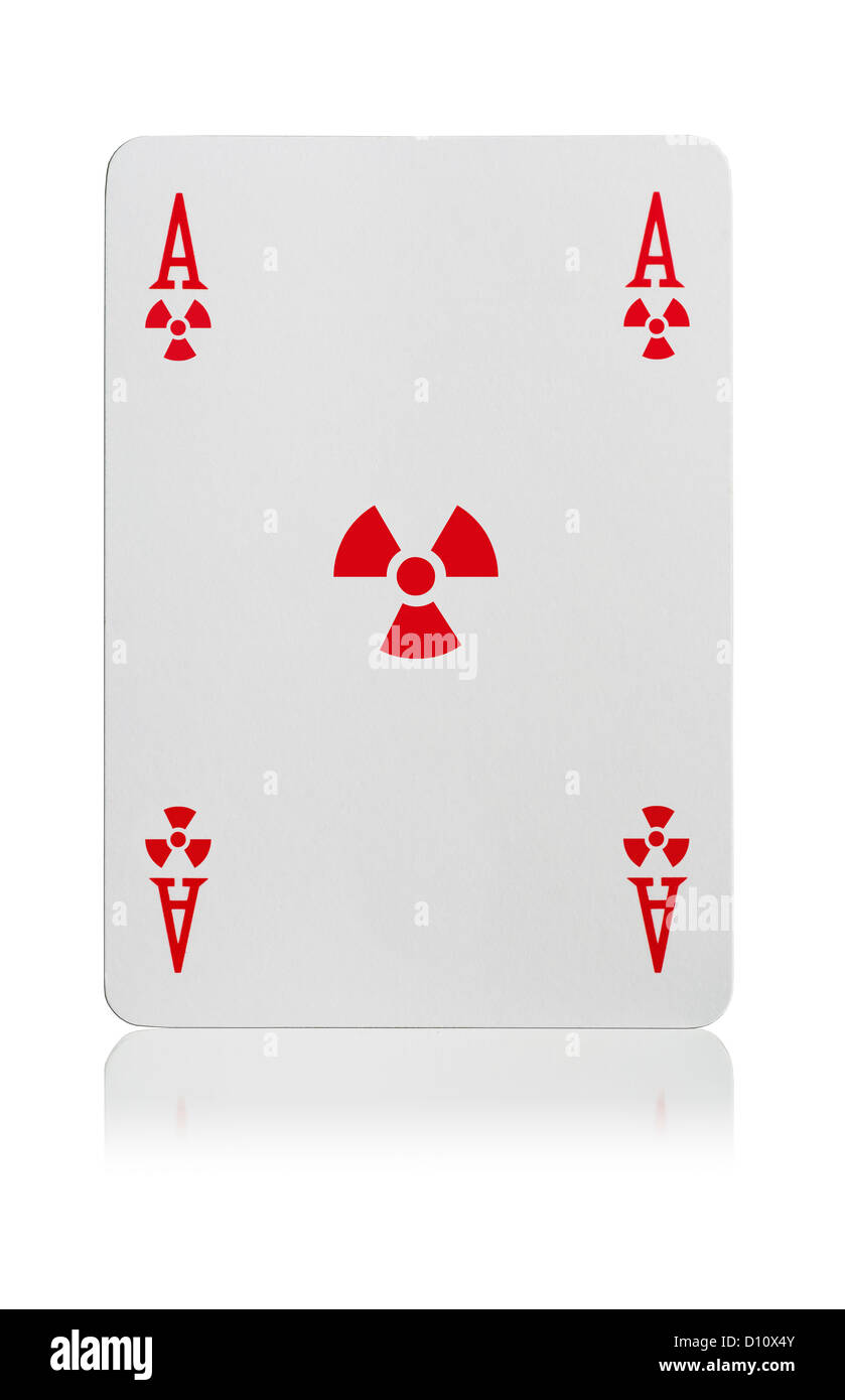 Ace of Radiation playing card - Stock Image