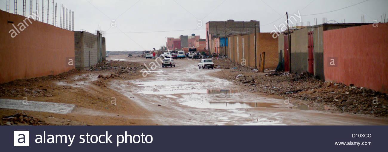 spanish western sahara occupied by morocco north Stock Photo