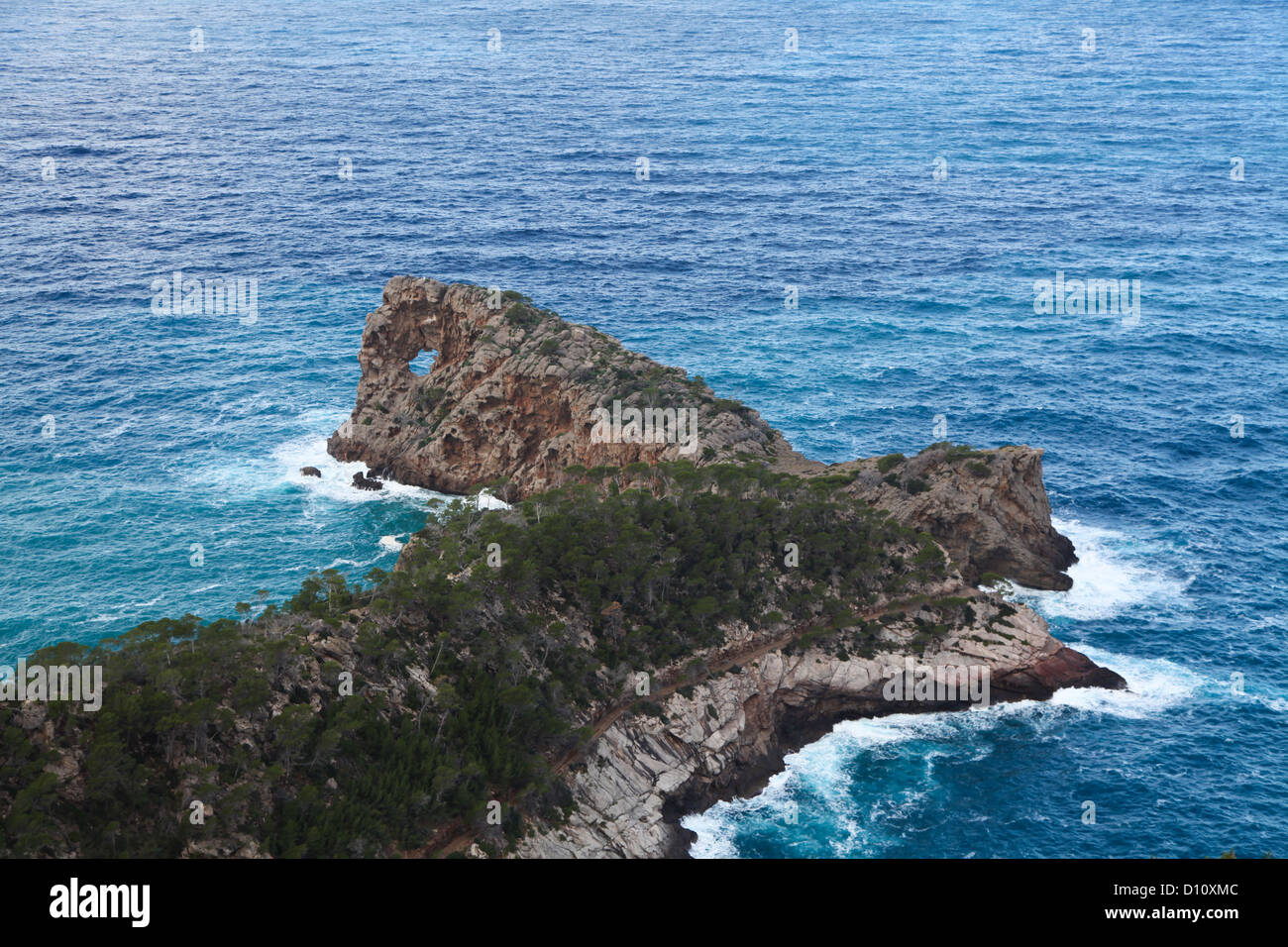Sa Foradada in majorca. View from Can Marroig. - Stock Image