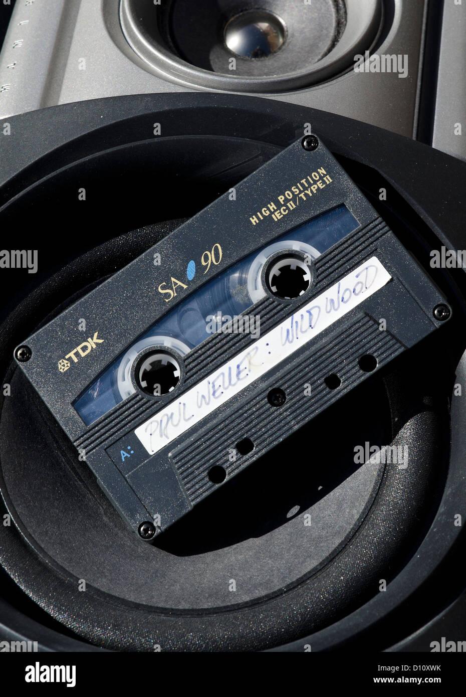 Audio Cassette Tape of Paul Weller, Wild Wood Album. - Stock Image