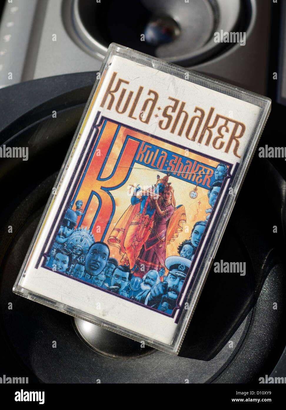 Audio Cassette Tape of Kula Shaker. Stock Photo