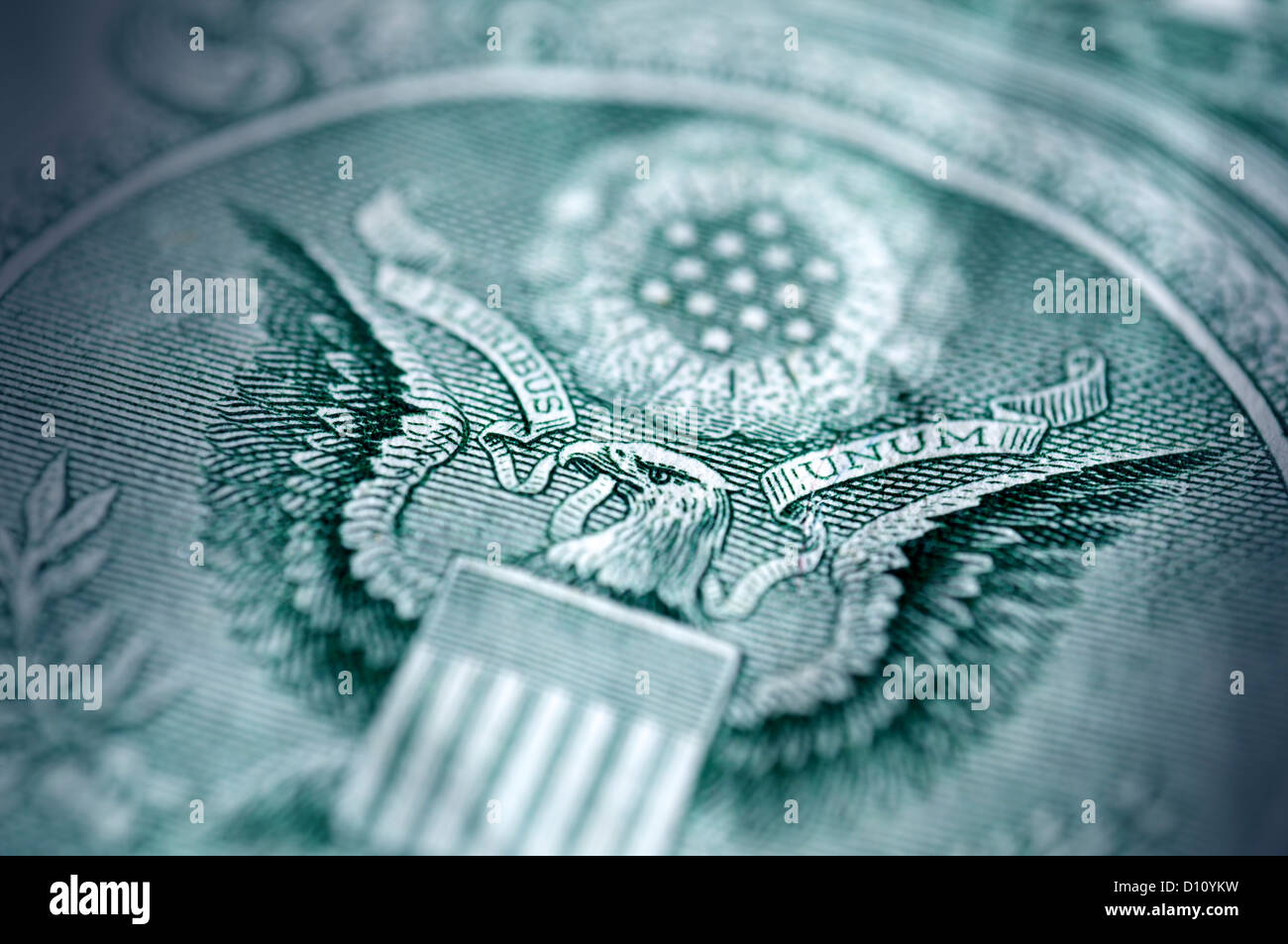 Detail of eagle on a US dollar - Stock Image