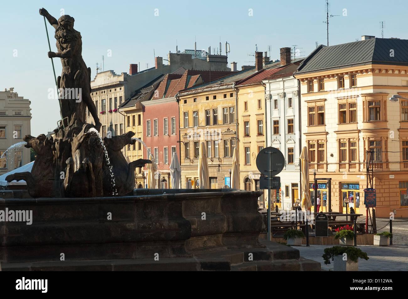 Elk188-3751 Czech Republic, Olomouc, Dolni namesti, Neptune Fountain, 1683 - Stock Image