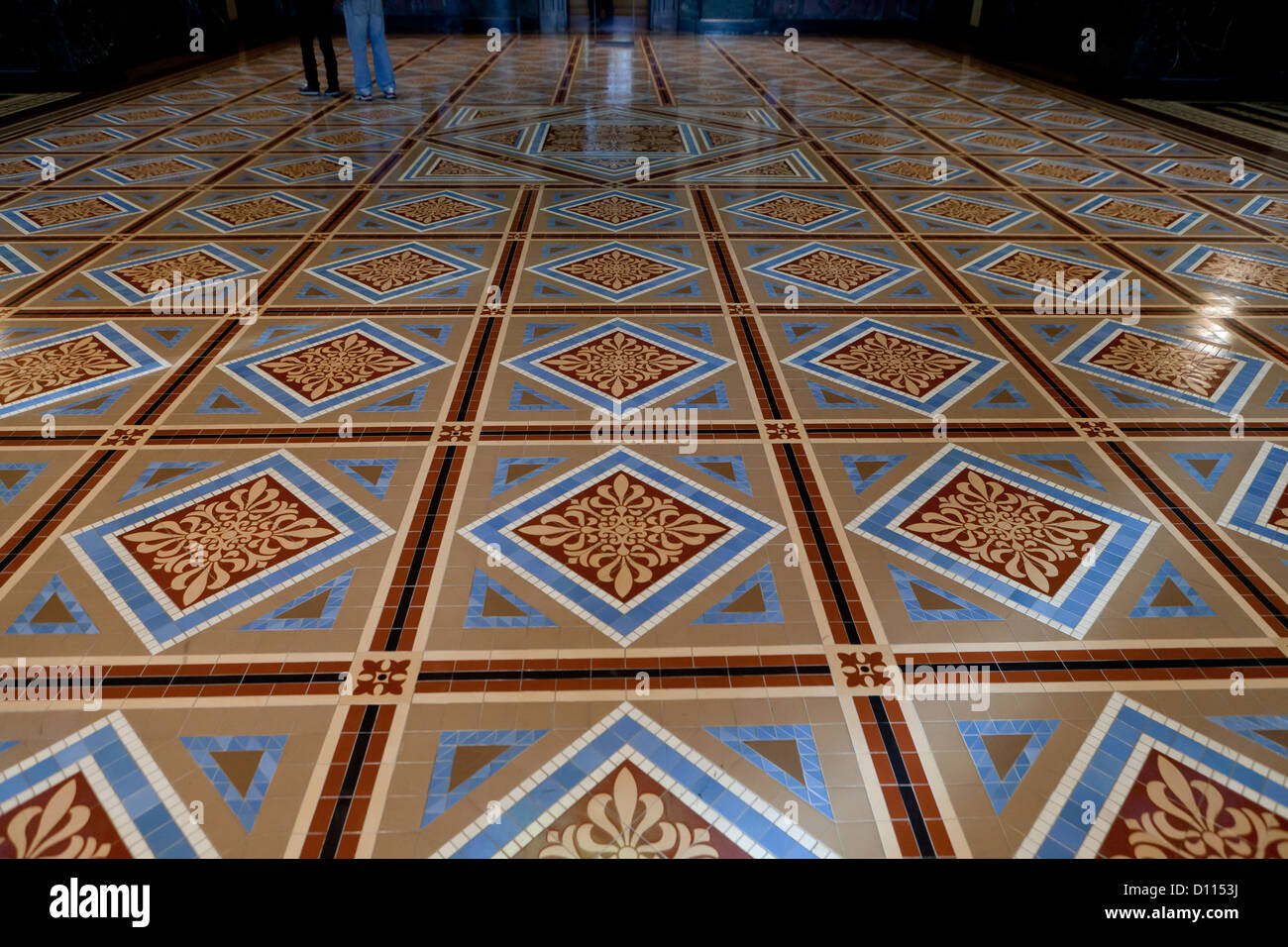 Ornate tile floor - Stock Image