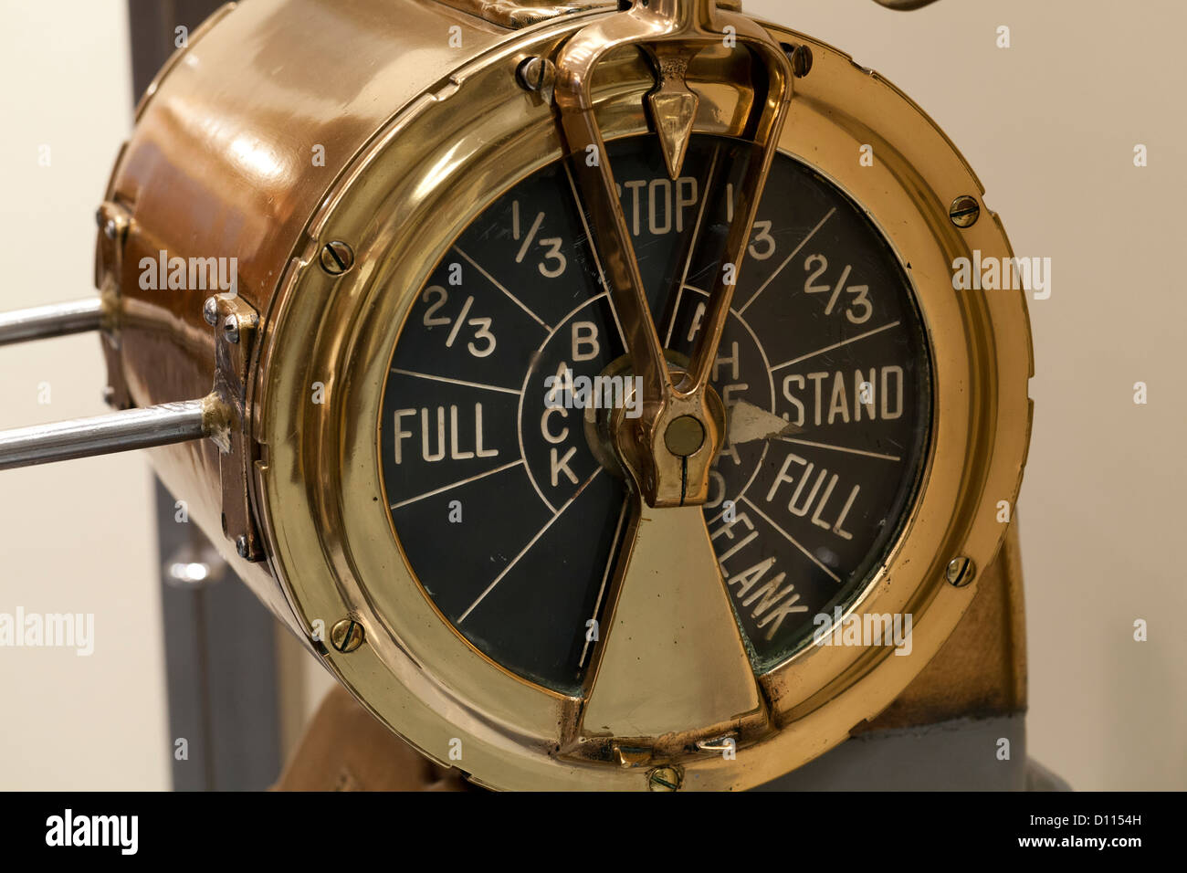 Antique  Engine Order Telegraph - Stock Image