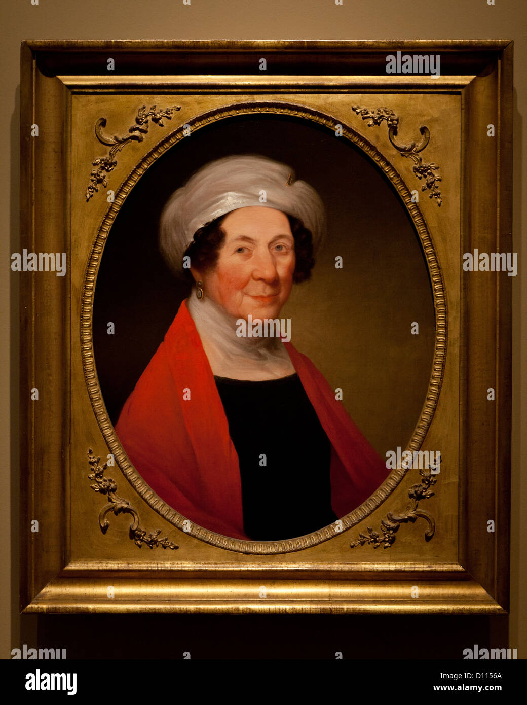 Dolly Madison portrait by William S Elwell, 1848 - Stock Image