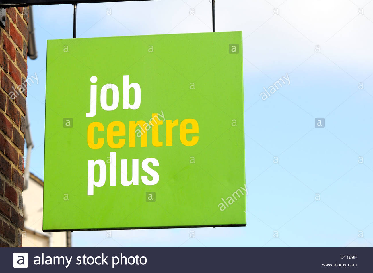 Job Centre Plus sign, Blandford Forum, Dorset England Stock Photo