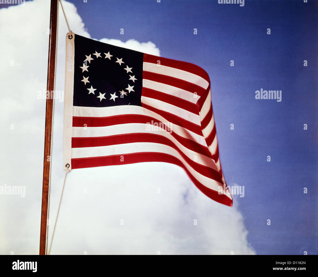 Old american flag 13 stars stock photos old american flag 13 stars 1700s 1770s american flag with 13 stars representing the colonies colonial 1776 revolution stock image publicscrutiny Choice Image