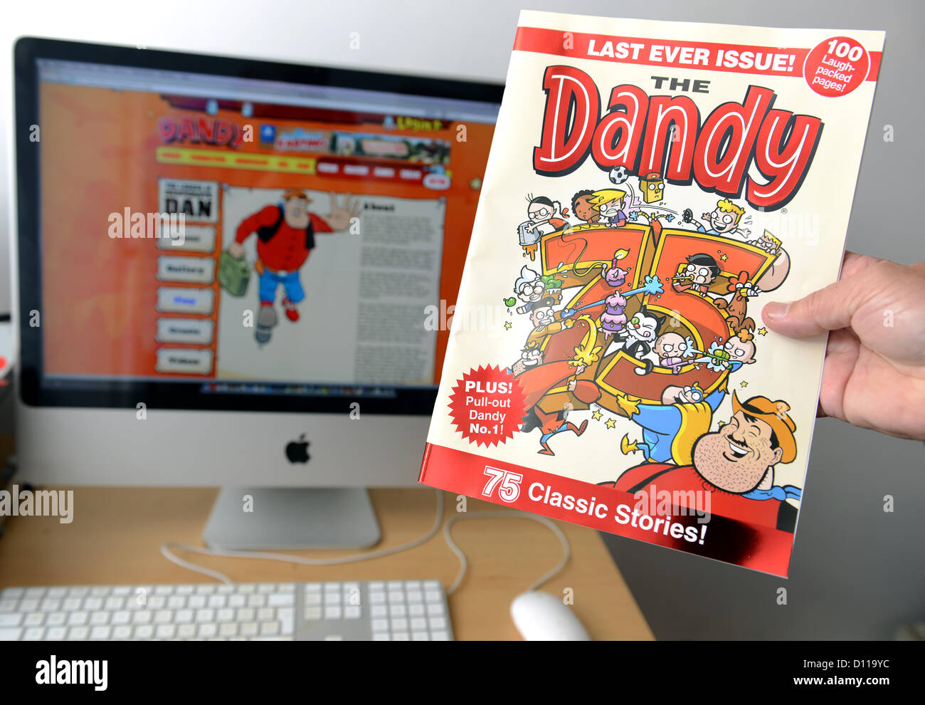The last ever print edition of The Dandy children's comic, after 75 years The Dandy will be online only, UK - Stock Image