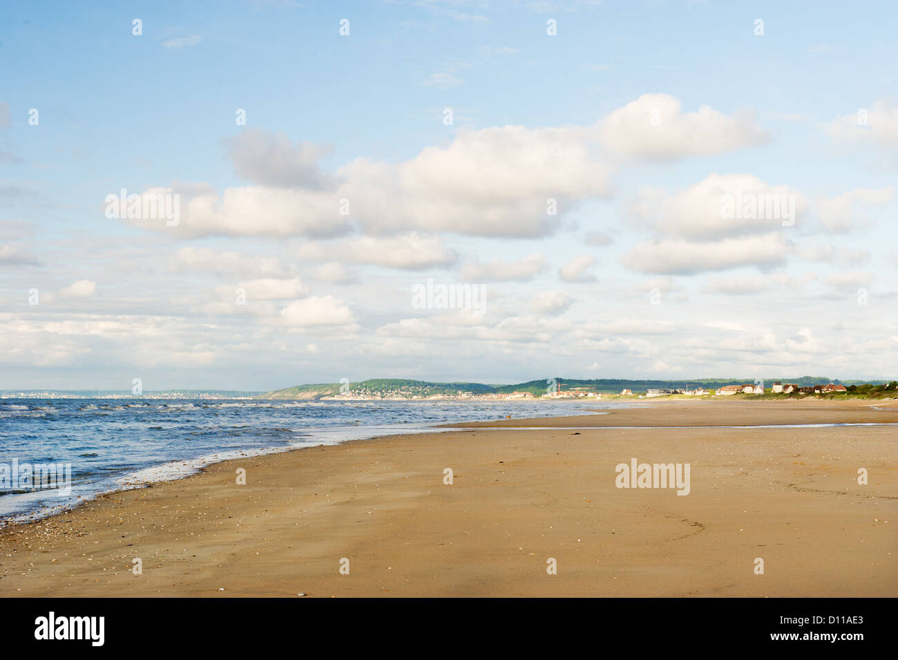 Normandy coast with beach - Stock Image