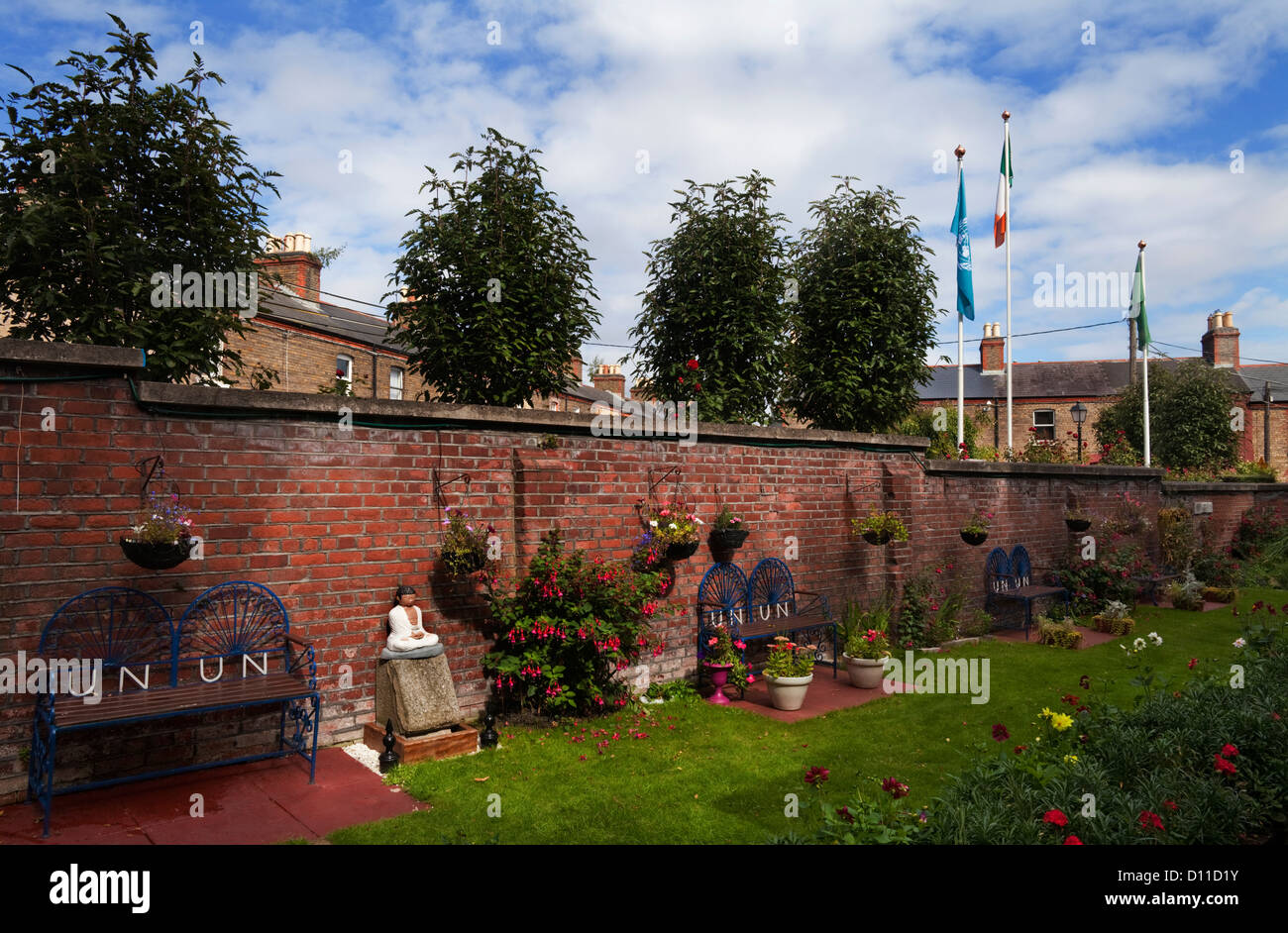 The Irish United Nations Veterans' memorial garden. Next to the Military Cemetery, Arbour Hill, Dublin City, Ireland Stock Photo