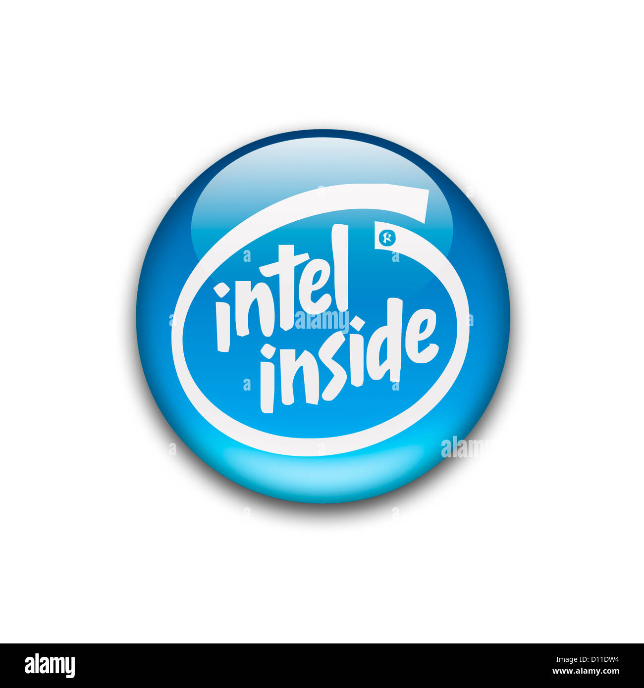 Intel inside logo symbol logotype flag Stock Photo