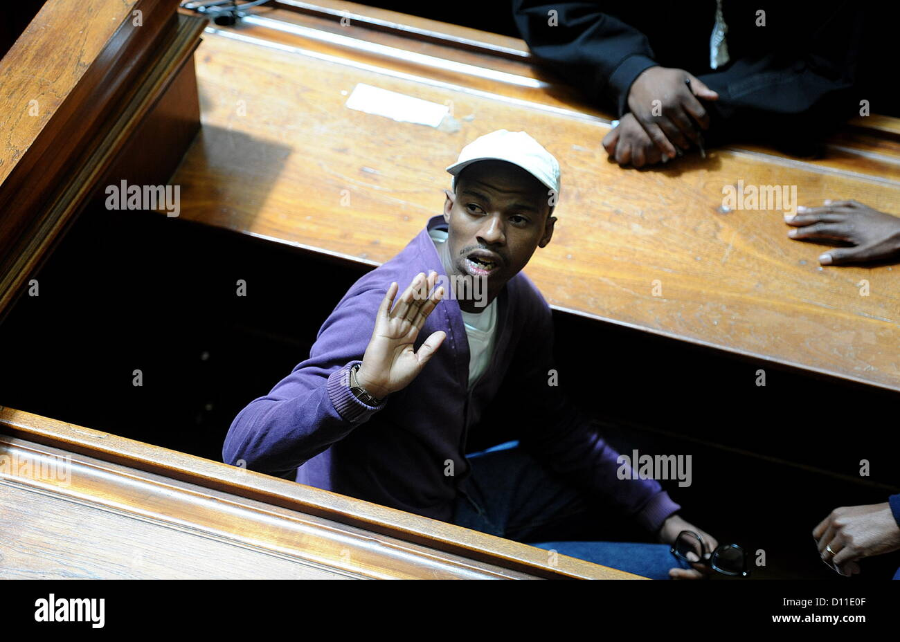 CAPE TOWN, SOUTH AFRICA:  (SOUTH AFRICA OUT) Xolile Mngeni in the Cape Town High Court on December 5, 2012  in Cape - Stock Image