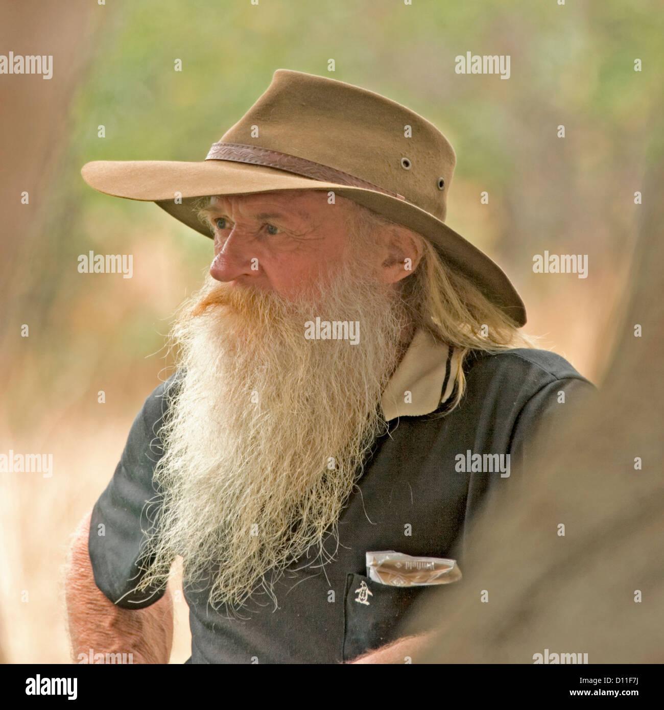 Bearded mature man unload