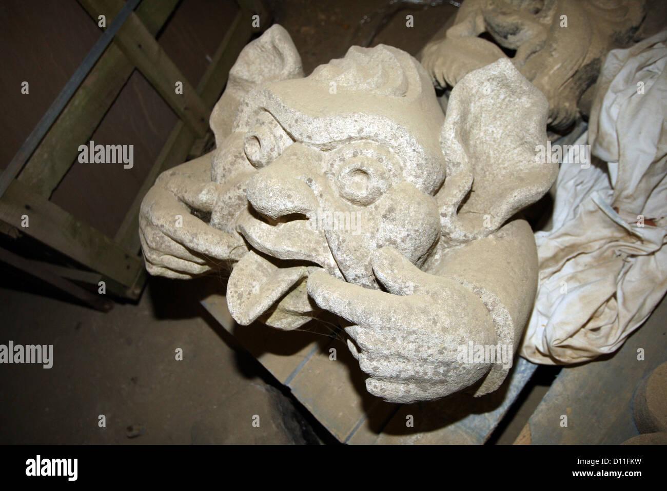 Horsham Stone, Gargoyle - Stock Image