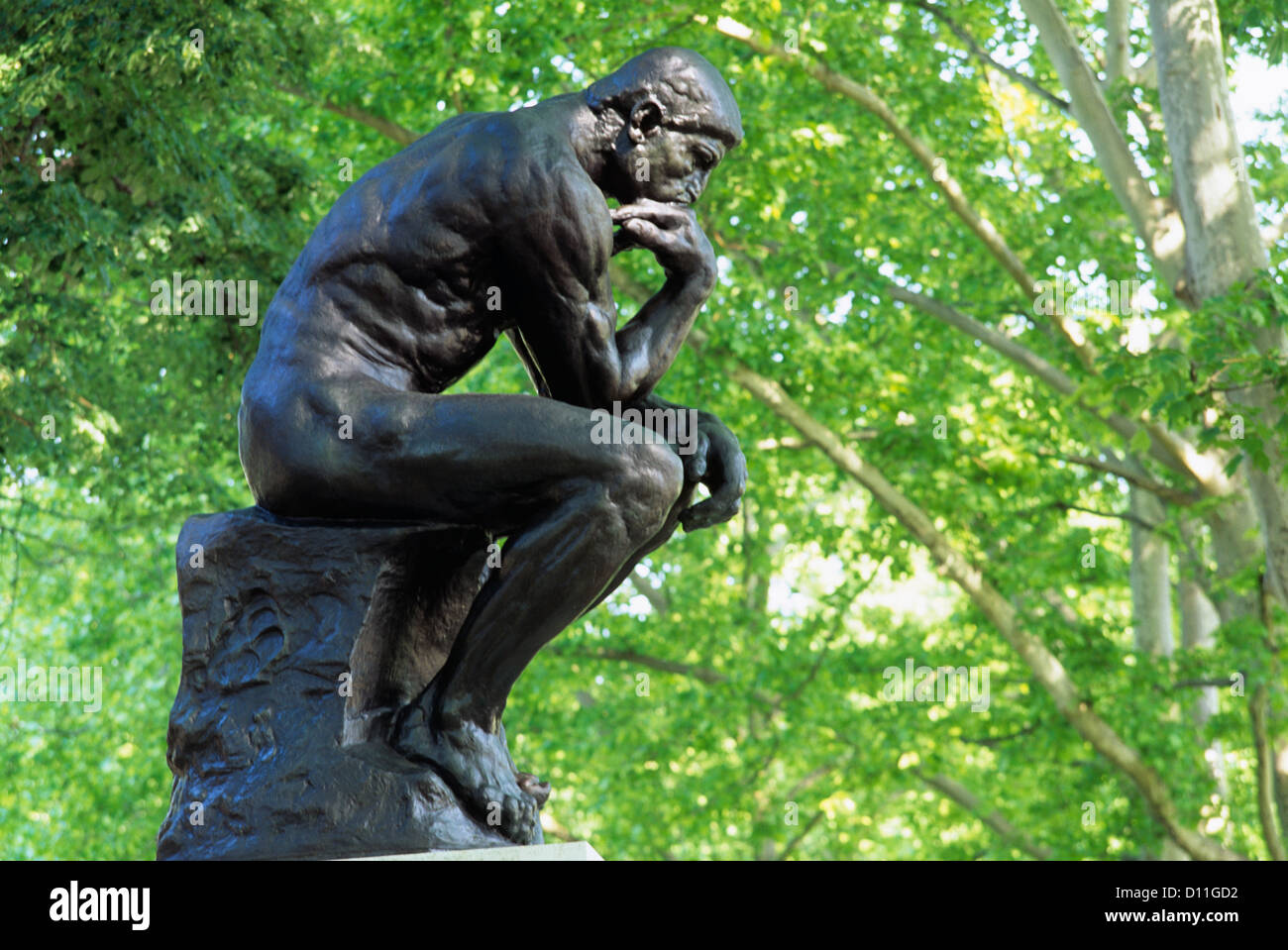 The Thinker Sculpture By Auguste Rodin At Rodin Museum