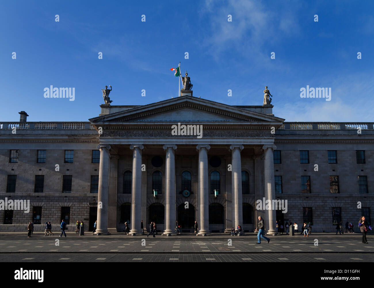 The General Post Office (GPO) in O'Connell Street, Rebel headquarters of the 1916 Easter Rising,  in Dublin, - Stock Image