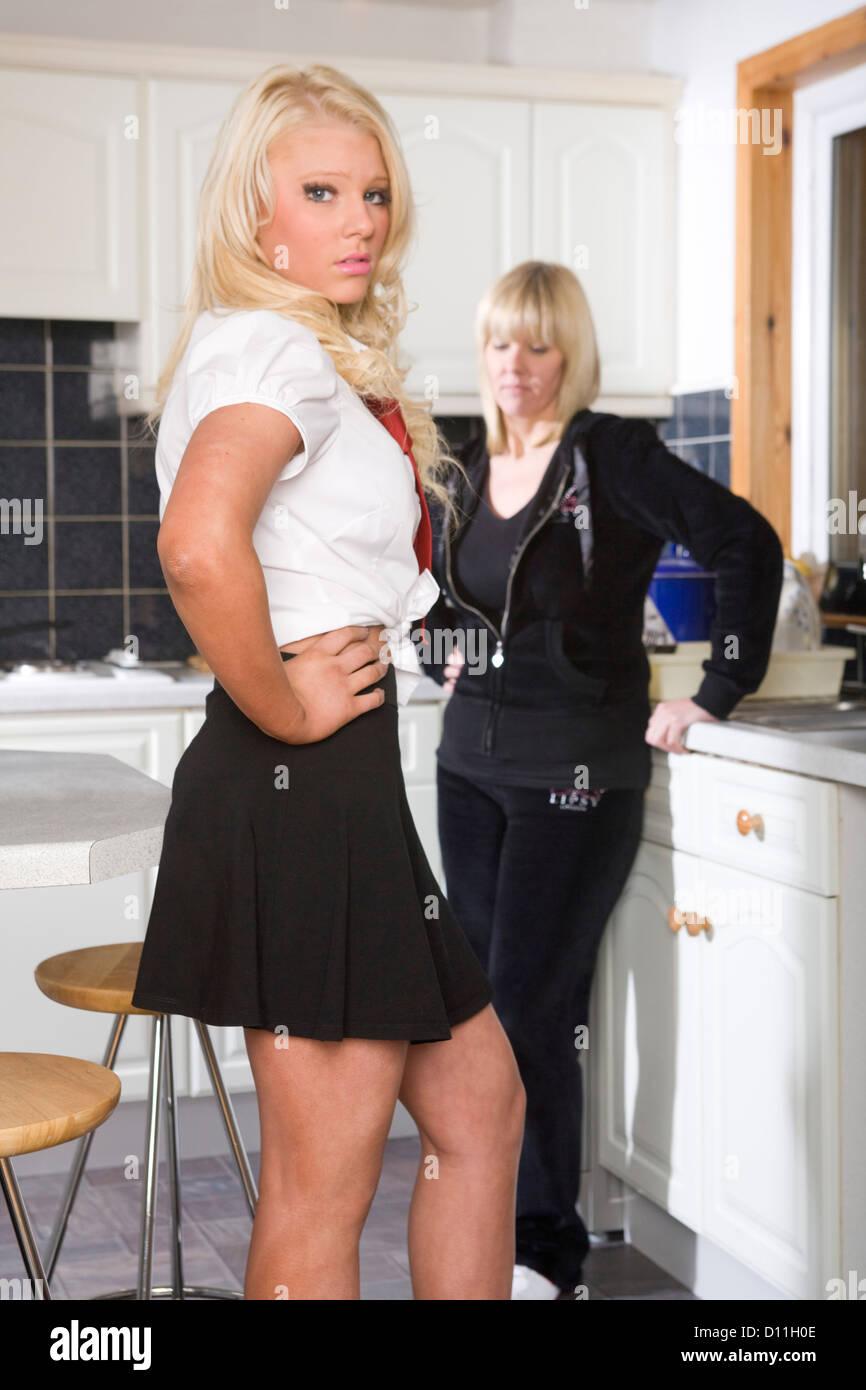 Older women in short skirts