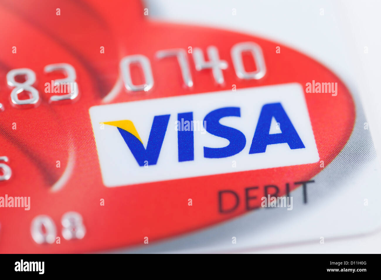 Visa card logo close up - Stock Image