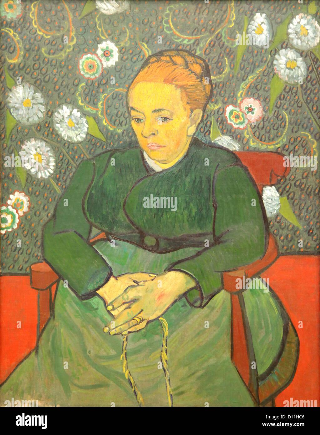 Vincent van Gogh.Augustine Roulin (La Berceuse) 1889 - Stock Image
