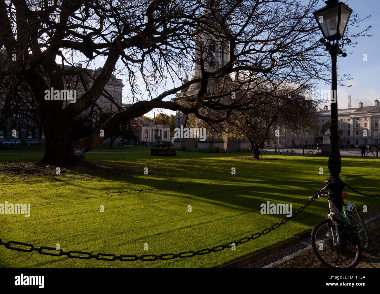 The Library Square, Trinity College Dublin founded in 1592, Ireland - Stock Image