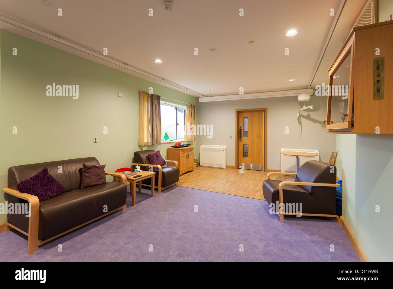 Phoenix House care home at Blandford Forum Residents Lounge - Stock Image