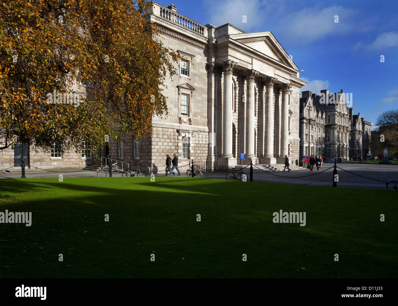 The University Chapel, Library Square, Trinity College Dublin founded in 1591, Ireland - Stock Image