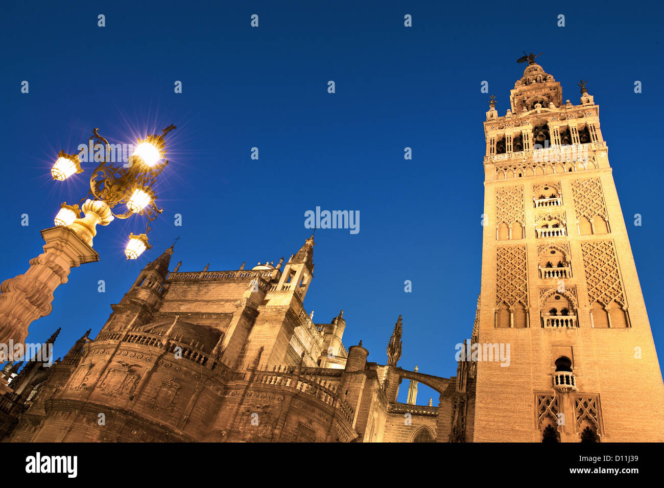 Cathedral and Giralda Tower,Seville,Andalusia,Spain. - Stock Image