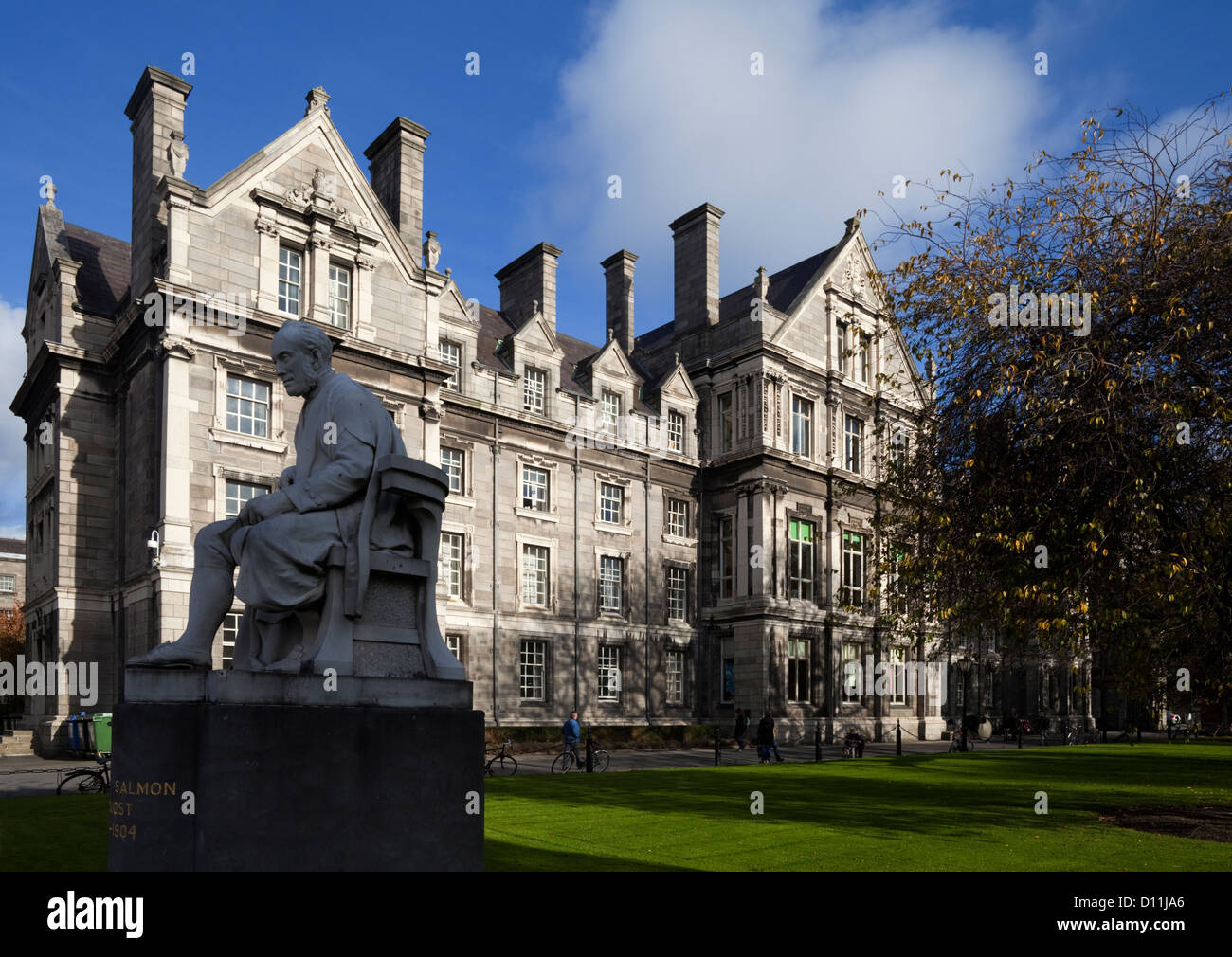 Statue of George Salmon, Provost  from 1888 until 1904, Library Square, Trinity College, University, Dublin, Ireland - Stock Image