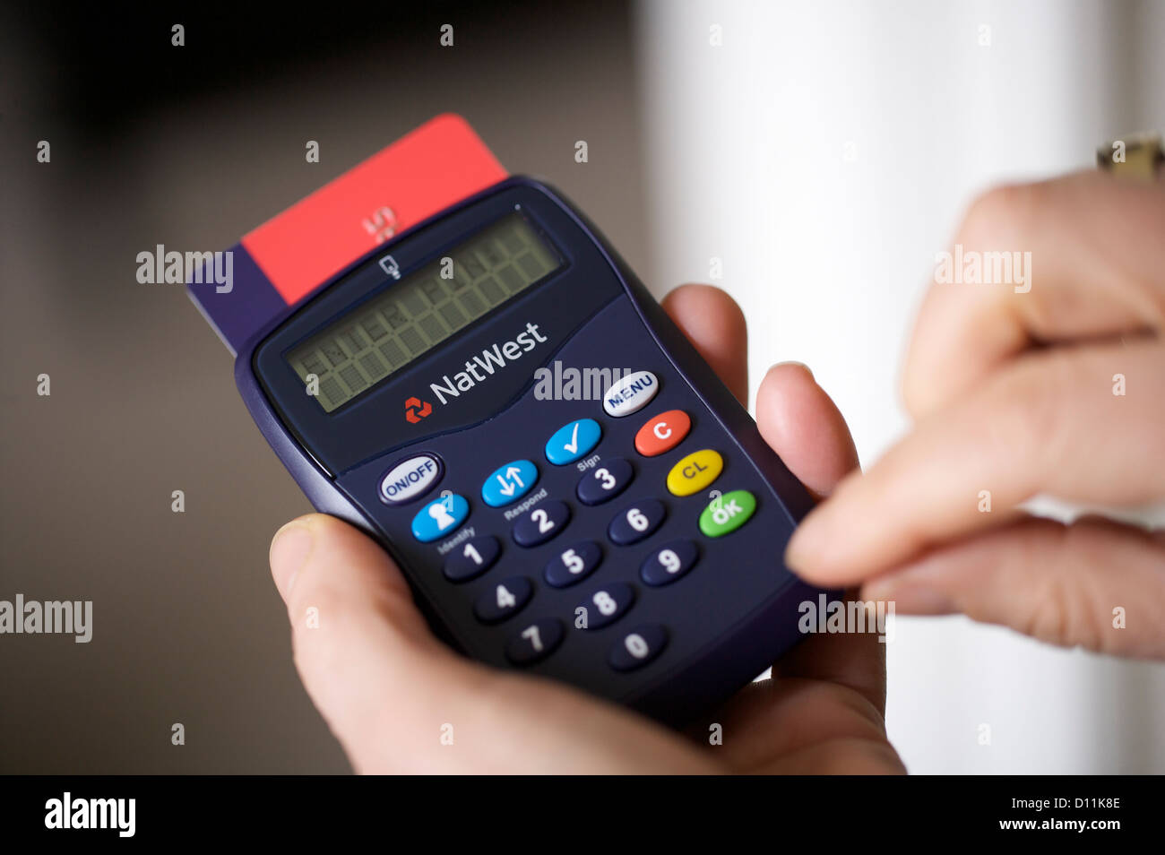 natwest bank card reader internet stock photos natwest bank card
