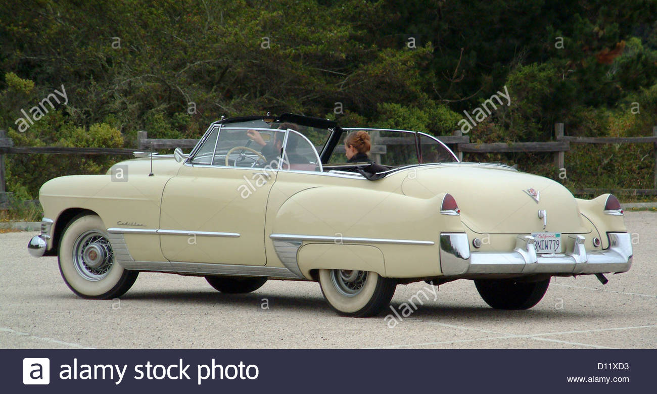 antique vintage car retro convertible whitewall - Stock Image