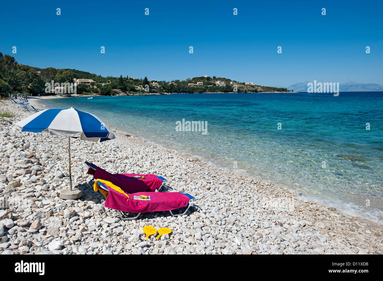 Coyevinas Beach, Corfu, Ionian Islands, Greece - Stock Image