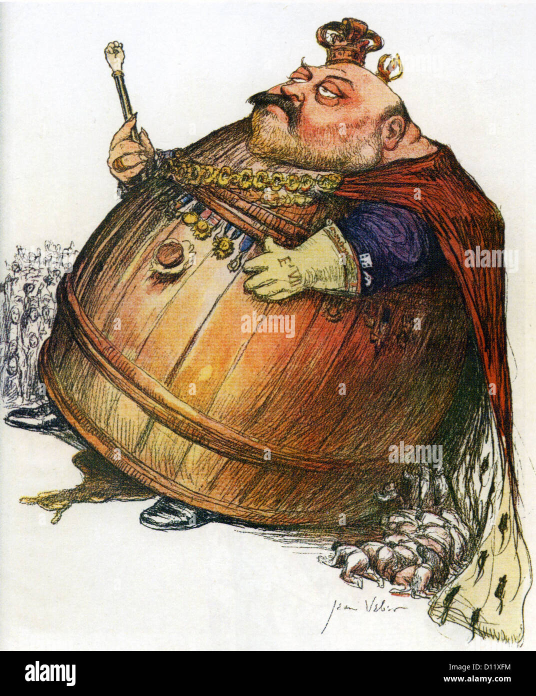 EDWARD VII (1841-1910)  Satirical French magazine cartoon in 1901 when he became  King - Stock Image