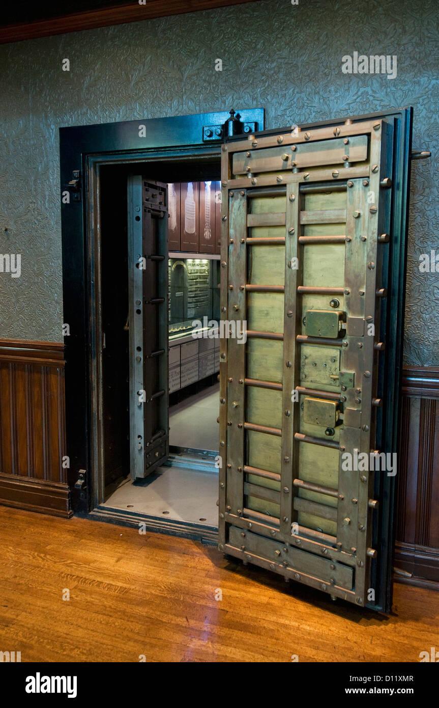 Vault Door; Toronto Ontario Canada - Stock Image