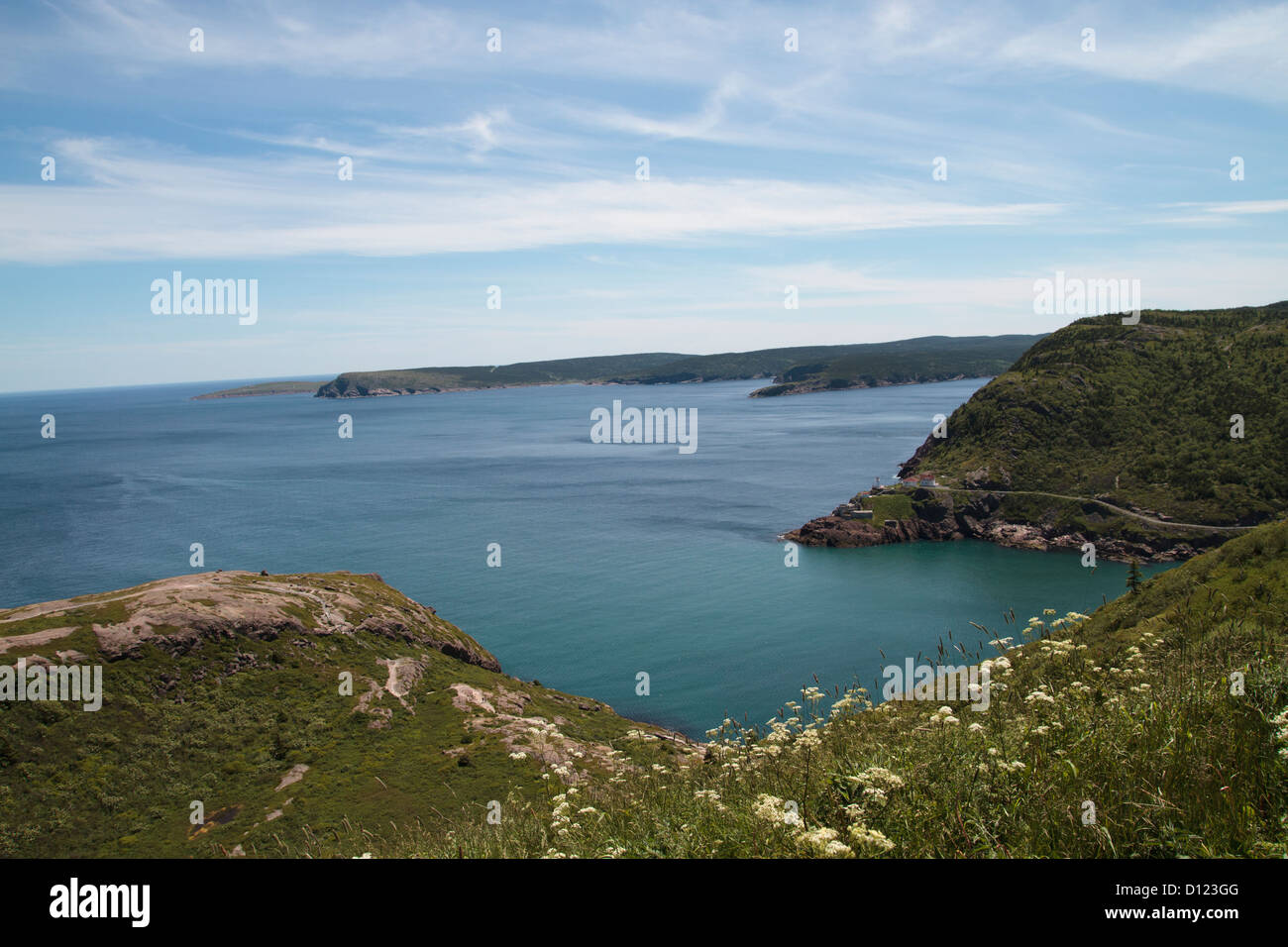 View from Signal Hill, St. John's, Newfoundland, Canada Stock Photo