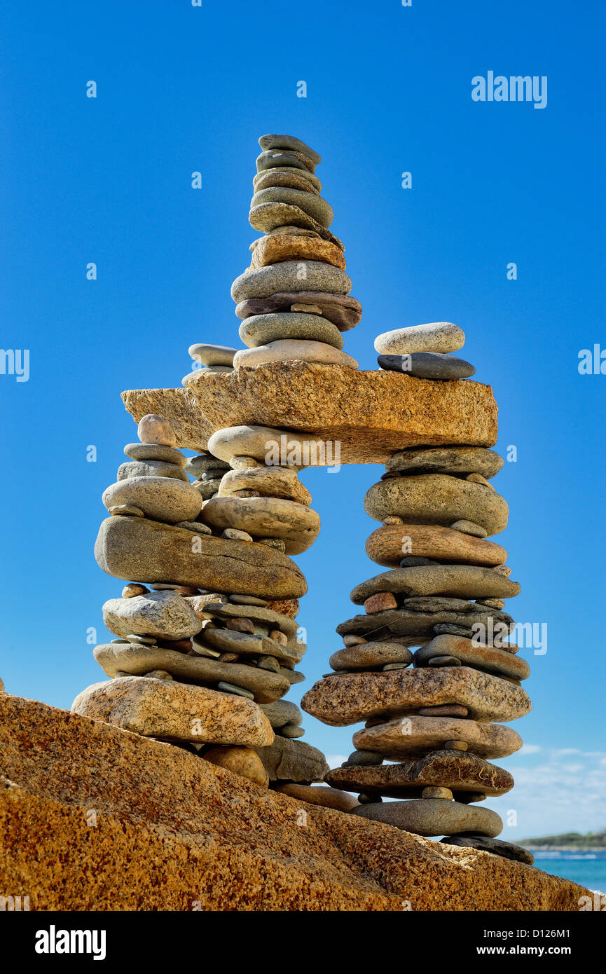 Rock cairn - Stock Image