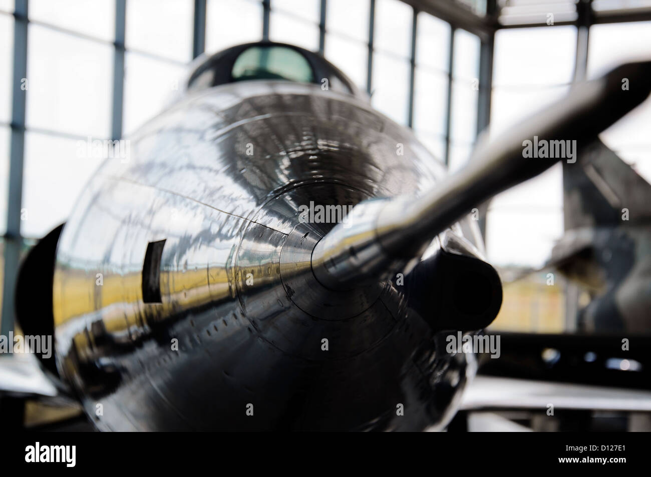 Front view of a modern fighter jet - Stock Image