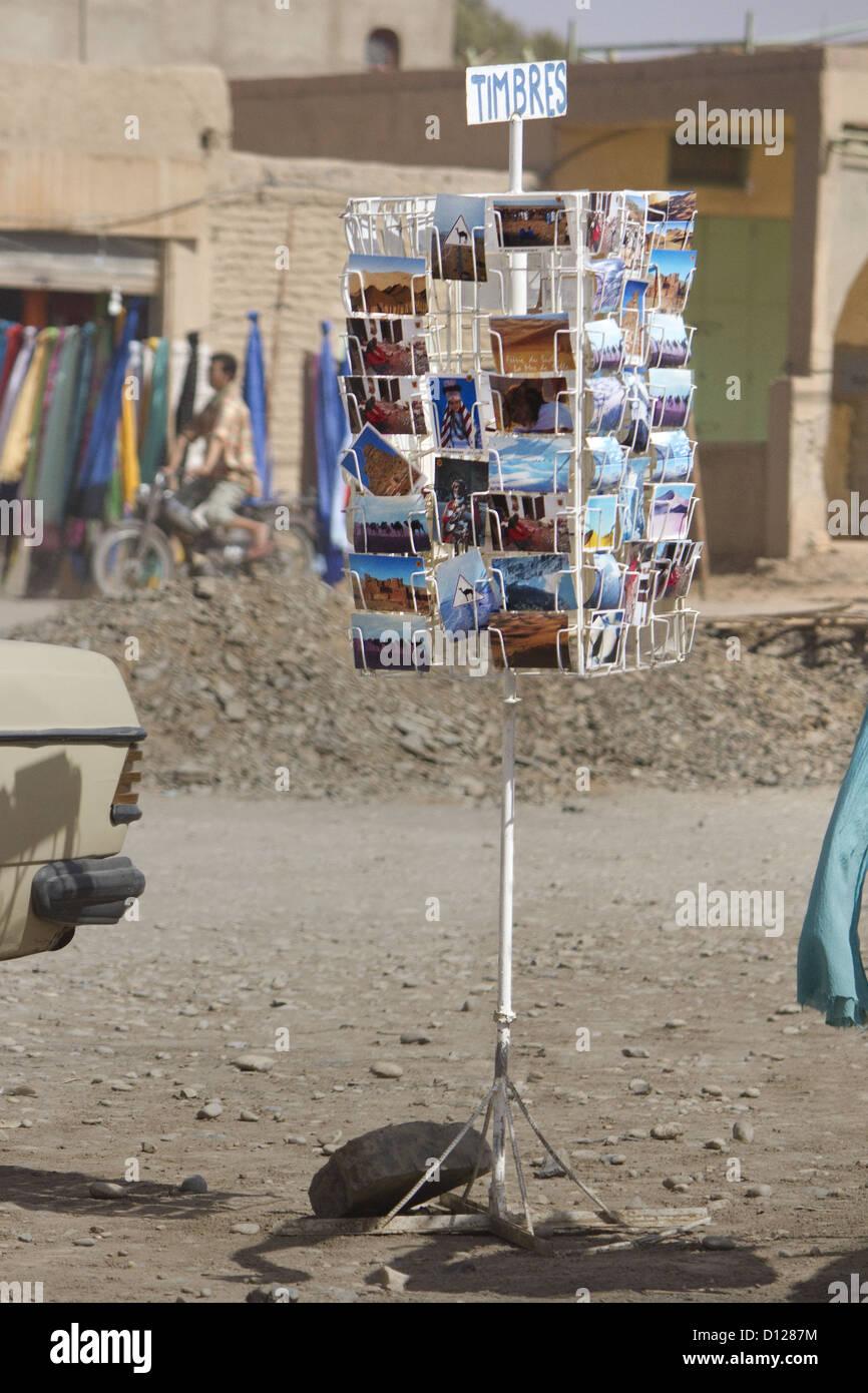 Merzouga, Erg Chebbi, Sahara, Morocco, Postcard - Stock Image