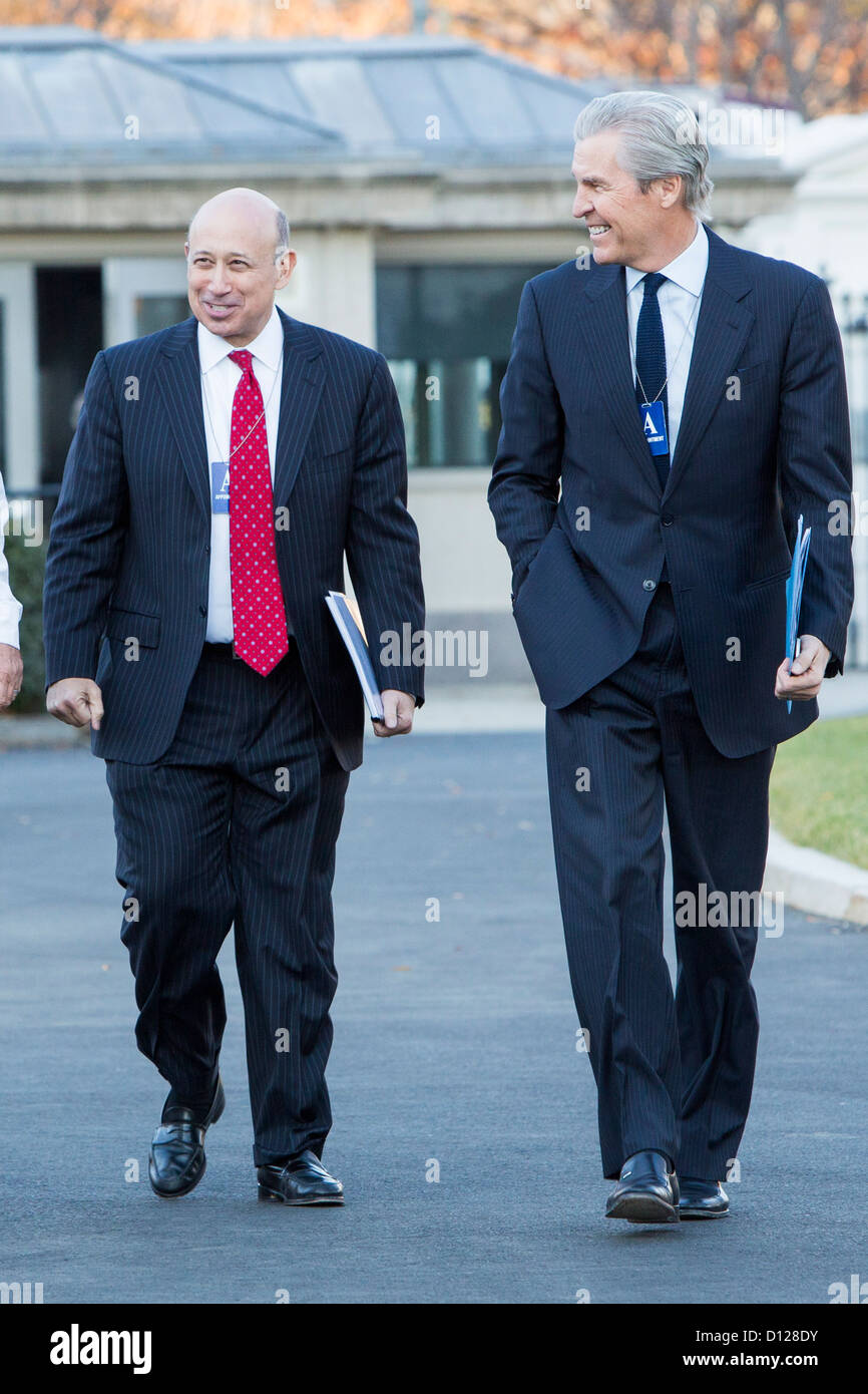 Goldman Sachs Group CEO, Lloyd Blankfein and Macy's Chairman, President and CEO Terry Lundgren arrive at the - Stock Image